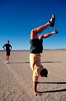man doing the handstand