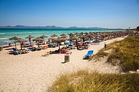 Beach of Muro, Bay of Alcudia, Majorca, Balearic Islands, Spain