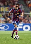 Dani Alves, Brazilian footballer, FC Barcelona, 2009