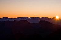 Bundner Alps, Graubunden, Switzerland.