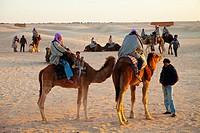 Douz Desert Landscape. Desert of Southern Tunisia. Tunez. Africa.