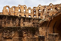 Roman Coliseum of El Djem. Tunisia. Africa.