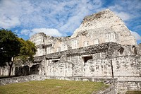 Structure I  Bec&#225;n Maya Ruins archaeology site, Campeche Mexico