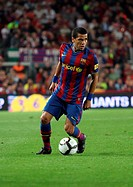 Dani Alves, Brazilian footballer, FC Barcelona, 20009