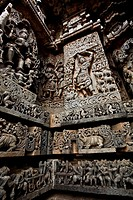 Temple Complex at Halebidu, from the twin temple towns of Belur- Halebidu, Karnataka, India