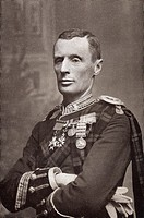 Major General Andrew Wauchope killed 1899 at the Battle of Majesfontein during the Second Boear War  From the book South Africa and the Transvaal War ...