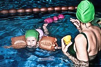 swimming training for children