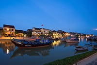 Harbour view of Hoi An City, Vietnam, Asia