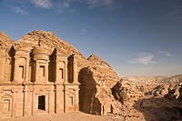 View of the Monastery facade, Petra, jordan, Asia