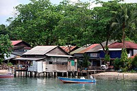 Fishing village, Palau Ubin, Singapur, Asia