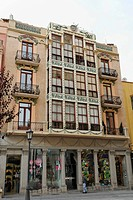 House front in the city of Zamora, Spain