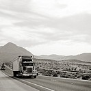 Trucking across California, USA