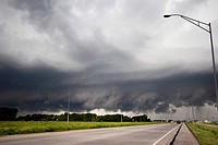 The low clouds of a squall line near Valley, Nebraska, June 11, 2008  The squall line produced multiple tornadoes through Nebraska and Iowa, one of wh...