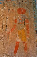 Sunken_relief,Egyptian god Horus,Egypt