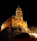 Cesky Krumlov in winter, Czech Republic