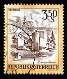 Oberwart, Burgenland, postage stamp, Austria, 1978