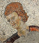 ancient roman mosaic of a young man from the remains of the Great Palace in Constantinople
