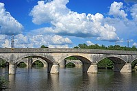 Bridge over the Gartempe, Saint-Savin-sur-Gartempe, Poitou, France