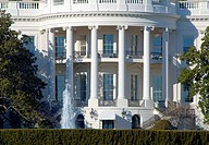 Detail of The White House - Home of The President of the United States of America