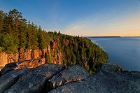 Devil´s Rock on Lake Temiskaming near Cobalt Ontario