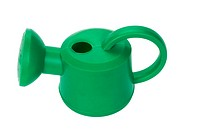 High angle view of a watering can