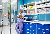 Surgeon, surgical block. Hospital Policlinica Gipuzkoa, San Sebastian, Donostia, Euskadi, Spain
