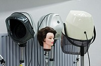 Hair-dryers in hairdresser