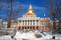 State House Boston Massachusetts USA New England capital government historic