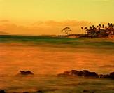 Volcanic rocks in the ocean on the beach  Hawaii, Maui, USA