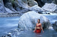 Wenshan Hot Springs in Taroko Gorge, Taroko National Park,Taiwan also known as Formosa,Republic of China, East Asia