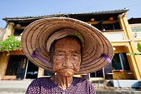 Close_up of a senior woman, Hoi An, Vietnam