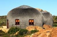 Namakwa Mountain Suite, oversized thatched, dome-shaped accommodation resembling the traditional huts of the local Nama tribe, Naries Namakwa Retreat,...