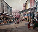 The Marketplace by S. Pezzoli, painted image, 19th century, USA, Pennsylvania, Philadelphia, David David Gallery