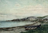 On Shore by James Brade Sword, watercolor, 1890, 1839_1915, USA, Pennsylvania, Philadelphia, David David Gallery