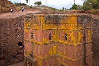 Bete Georgis Church. St. George. Lalibela Churches. Lalibela. Ethiopia. Africa.