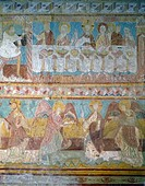 Brinay_Sur_Cher, St. Aignan Church, Wedding at Cana by Artist Unknown, fresco