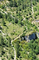 little road for walking France Cevennes