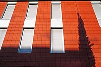 Windows, white blinds, Balsareny, Barcelona province, Catalonia, Spain
