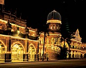 Malaysia, Kuala Lumpur, Sultan Abdul Samad building. A wonderful combo of Victorian/Moorish/Islamic influences from late 1800´s. Orig. Br. admin, now ...