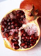 Sliced up pomegranate