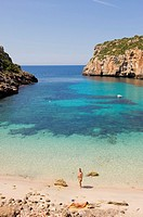 Es Canutells beach, Minorca, Balearic Islands, Spain