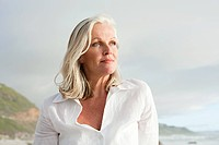 Mature woman at coast
