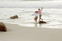 Couple having fun in the sea