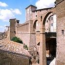 acquedotto mediceo, pitigliano, toscana, italia