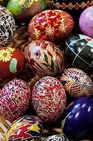 Ukrainian Style Painted Easter Egg