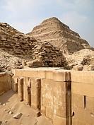 Pirámide escalonada de Zoser , Saqqara, El Cairo, Egipto
