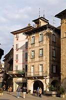 Piazza del Mercato, Domodossola, Verbania province, Italy