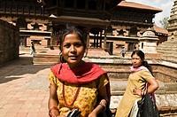 Beautiful Nepali girl in Bhaktapur, Nepal.