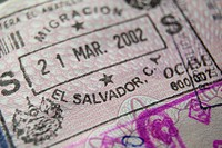 El Salvador border stamp in a passport