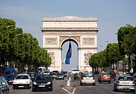 France, Paris, Arc de Triomphe, Champs Elysees